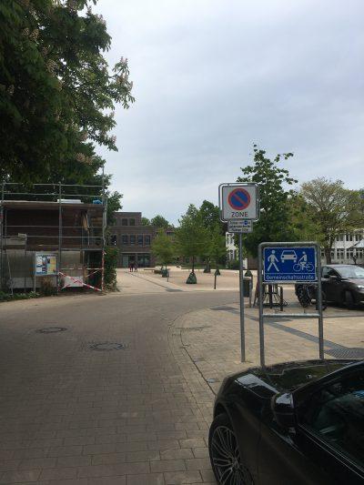 Neues Schild in der Gustavstraße