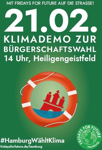 Großdemo - Hamburg wählt Klima @ Heiligengeistfeld