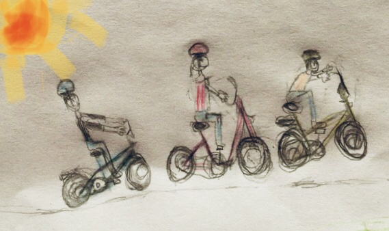 Kinderbild Radeln Masou