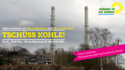 Tschüss Kohle: Diskussion zum Kraftwerk Wedel @ Video-Konferenz