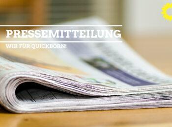 Pressemitteilung GRÜNE OV Quickborn
